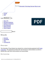 Oracle - Overview_University of Texas at Austin