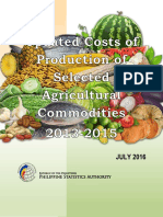 2013-2015 CRS of Selected Commodities