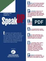 SpeakUp Poster