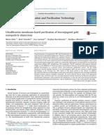 Ultrafiltration Membrane-based Purification of Bioconjugated Gold