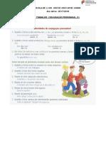 Ficha de Trabalho Sobre Conjugação Pronominal (1)