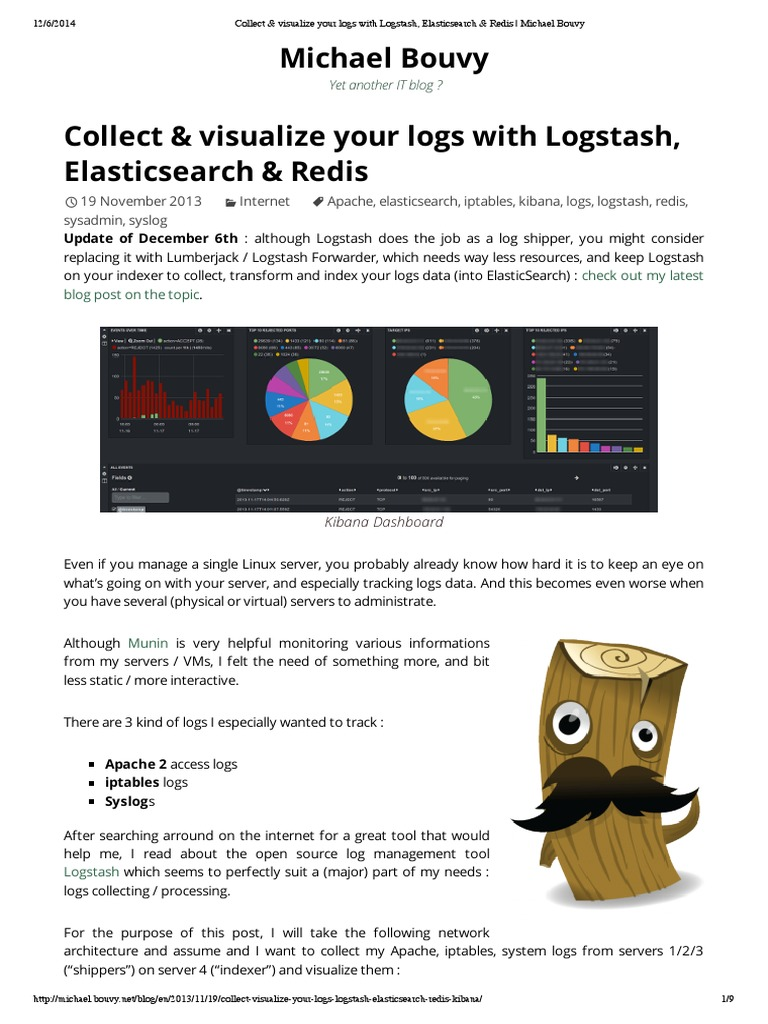 Collect & Visualize Your Logs With Logstash, Elasticsearch & Redis _