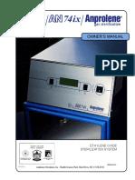 Manual de Usuario Autoclave a Gas Anprolene AN74 (Inglés)