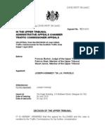 J Kennedy - upper tribunal decision