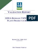 Validation Report and Protocol_rev3b