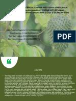 Isolasi Dan Identifikasi Senyawa Aktif Fraksi Etanol Daun Sirsak