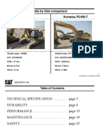 340DL vs Komatsu PC400 Side by Side Comparison_update May 11