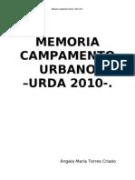 MEMORIA Camp Urbano Urda