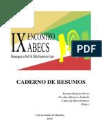 Caderno Resumos IX Encontro ABECS 2016