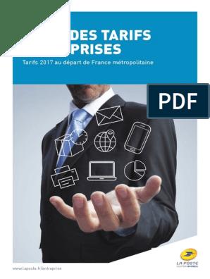 La Poste Principaux Tarifs Entreprise 2017 Lettre