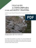 Río Shullcas Es Cloaca Contaminada Por Desagüe y Basura Word