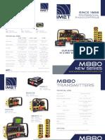 IMET Radio Remote Control M880 Depliant En