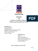 Report on Analysis of Leather Industry in  National and International Context