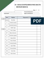 Subtest Semejanzas Adultos Wais IV-protocolo - WENDY LESLIE RIVERA