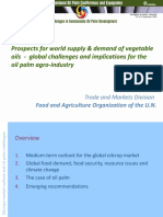 Prospects for WorldSupply & Demand ofVegetable Oils - Global Challenges and Implications for the Oil PalmAgro-Industry