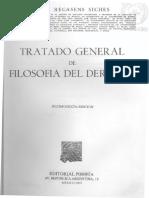 Recasens Siches. Tratado General de Filosofía Del Derecho.