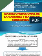 SESION-7-MATRIZ OPERACIONAL DE LA VARIABLE Y MATRIZ DE CONSISTENCIA.pdf