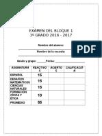 3er Grado - Bimestre 1 (2016-2017)