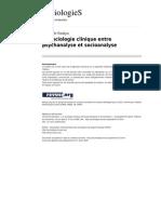 Sociologies 1713 La Sociologie Clinique Entre Psych Analyse Et Socioanalyse