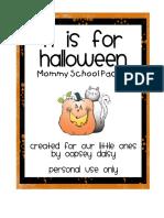 Mommy School Week 6_Halloween