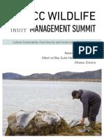 ICC Wildlife Management Summit Agenda