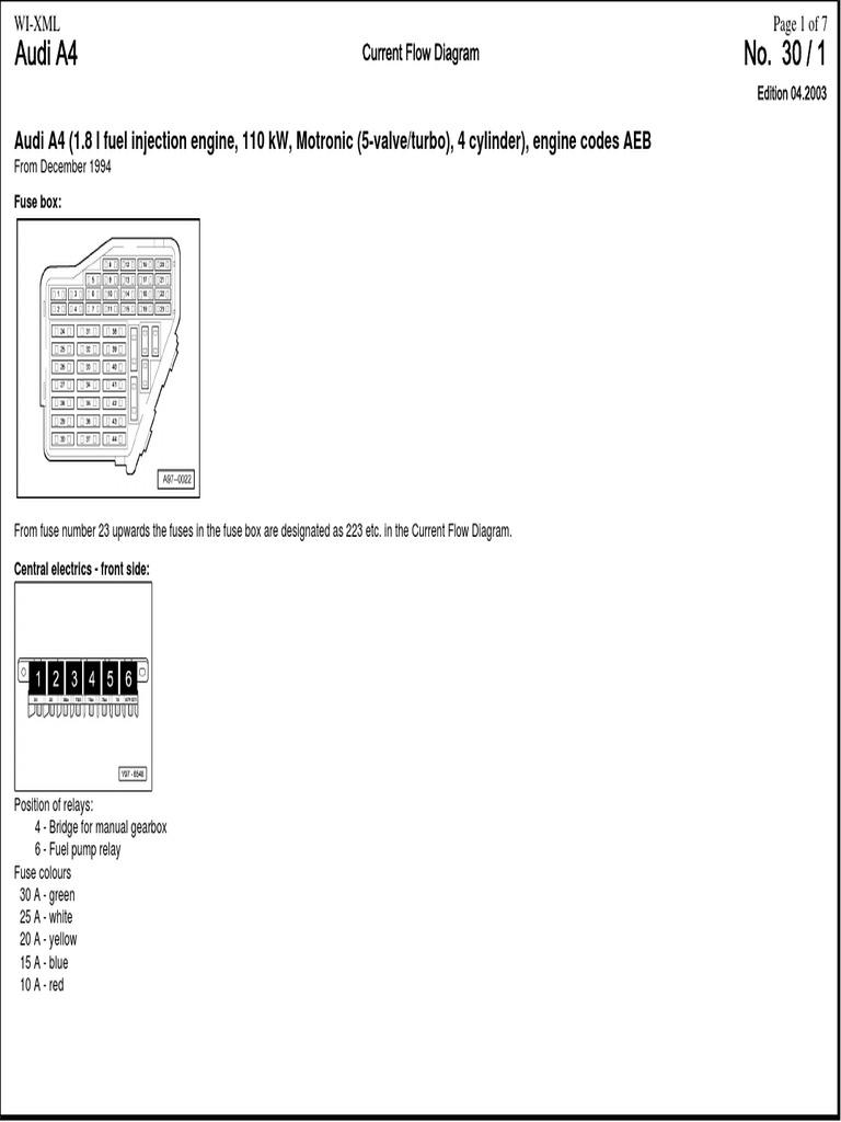Audi A4 B5 1995 ECU AEB.pdf | Fuel Injection | Ignition System