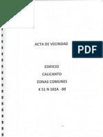 Acta Zonas Comunes Calicanto