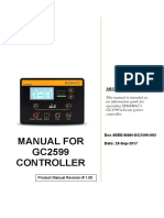 Sed Man GC2599 New 002 Manual for GC2599 Controller(New)