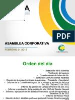 Presentacion Informe de Gestion2012