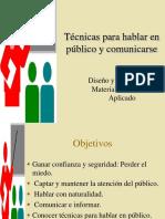 Técnicas Para Hablar en Público y Comunicarse El Orador y El Discurso