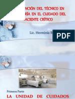 Intervención Del Técnico en Enfermería en El Cuidado Del Paciente Crítico
