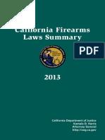 CA Firearms Laws Summary