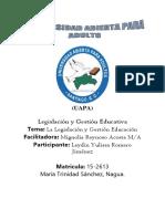 Tarea-1 Legislacion y Gestion Educativa