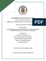 ANÁLISIS DE RIESGOS FÍSICOS Y QUÍMICOS Y SU CONTROL PREVENTIVO BASADOS EN EL HACCP EN LA INDUSTRIA ALIMENTICIA