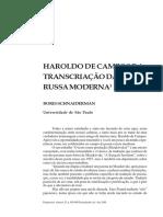 SCHNAIDERMAN, Boris - Haroldo de Campos e a Transcrição da poesia russa moderna