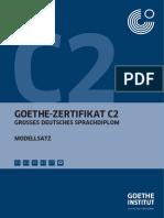 Goethe Institut Großes Sprachdiplom C2