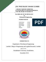 Automatic Pneumatic Door Closer - Project Report