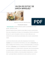 ANÁLISIS de Gabriel Garcia Marquez