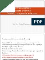 Contrato Aleatorio Com Pessoa a Declarar e Contrato Preliminar
