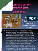 Presentation on 11th Five Year Plan