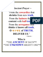 ANCIENT PRAYER ~ THE ANCIENT OF DAYS