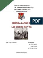 America Latina en El Siglo 19 y 20