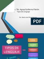 Tipos de Lenguajes Maria Jose Perez Vergara