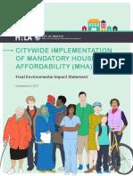 City of Seattle - OPCD - MHA FEIS 2017