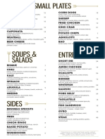 Point & Feather food menu