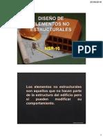 Diseño de Elementos No Estructurales Según la NSR-10