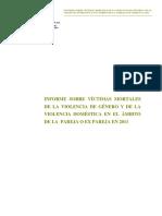 Informe Sobre Víctimas Mortales de La VG y VD Ámbito Pareja 2011