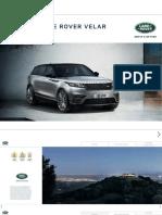 Range Rover Velar Catálogo Brochure 2017