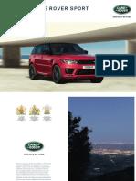Range Rover Sport Catálogo Brochure 2017