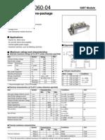 2MBI300N-060-04 IGBT Module 600V 300A 2 in One-package